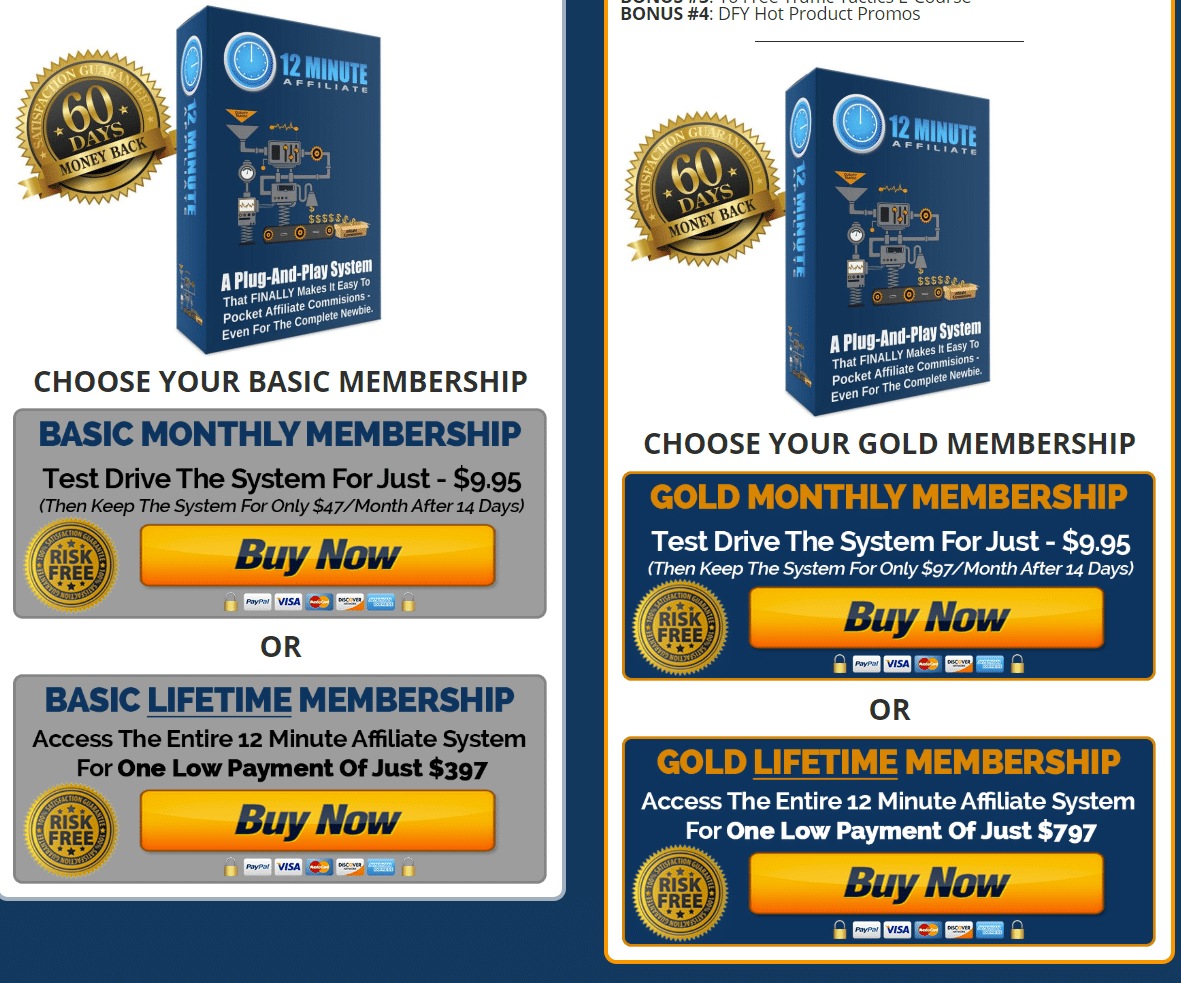 Buy 12 Minute Affiliate System  Colors Price